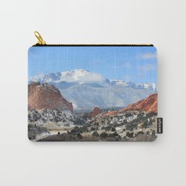 Snow at the Garden of the Gods, Colorado Springs Carry-All Pouch