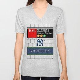 NYC Yankees Subway Unisex V-Neck