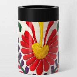 Red Mexican Flower Can Cooler