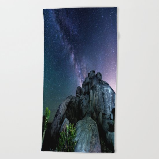 Milky Way Rock Beach Towel
