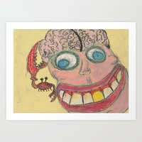 dumb and dumber Art Prints featuring dumb by goldcat