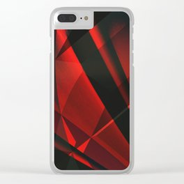 Red Abstractum Clear iPhone Case