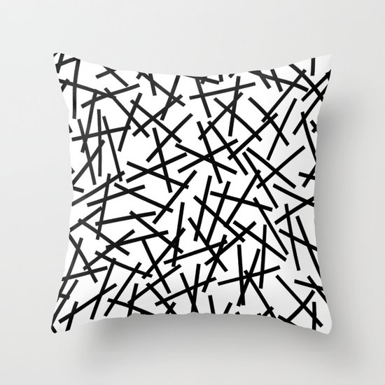 Kerpluk Black on White Throw Pillow