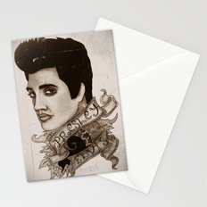 The King of Rock 'n' Roll (Elvis Presley) Stationery Cards