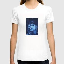 badu?!-blue T-shirt
