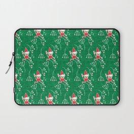 Santa Little Helper Green #Holiday #Christmas Laptop Sleeve