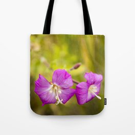 Pink on green #3 Tote Bag