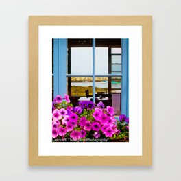 Floral Lunch View Framed Art Print