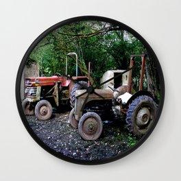 TWO OLD IRISH WORKHORSES Wall Clock