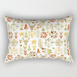 Winter forest scandinavian background Rectangular Pillow