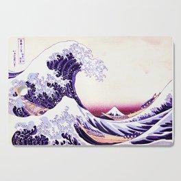 The Great wave purple fuchsia Cutting Board