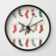 Don't Waste Time Matching Socks Wall Clock