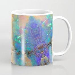 Aquamarine Opal Gemstone Marble Rock Mineral Pattern Coffee Mug