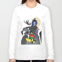 teen titans Long Sleeve T-shirts featuring Teen Titans by Fuacka