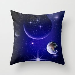 Fantastic yourney into space. Throw Pillow