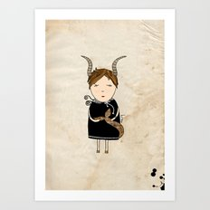 Capricorn Girl Art Print