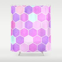 cheshire cat Shower Curtains featuring Cheshire Cat by Alexandre Reis