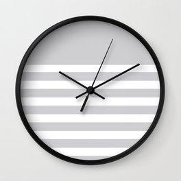 Gray Bretton Stripe Art Wall Clock