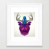 mythology Framed Art Prints featuring Artificial Mythology by Diligence