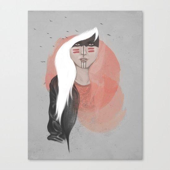 The Black Raven Canvas Print