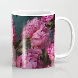 Peony Romance Teal Coffee Mug
