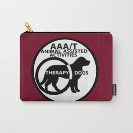 Animal Assisted Activities  - THERAPY DOG logo 15 Carry-All Pouch