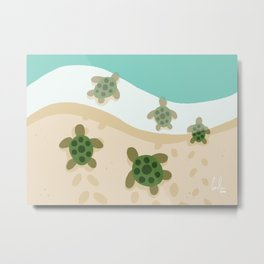 Baby Turtles Metal Print