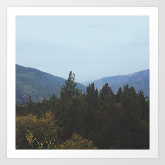 Mountain View Art Print