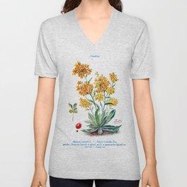 J Eudes - Alysse - vintage botanical print Unisex V-Neck