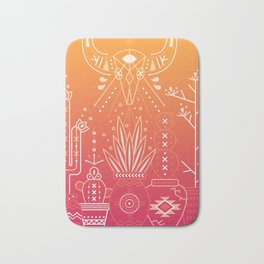 Santa Fe Garden – Orange Sunset Bath Mat