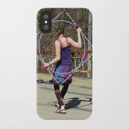 The Circle Inside the Square (Hula Hoop Series) iPhone Case