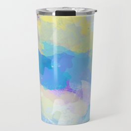 Colorful Abstract - blue, pattern, clouds, sky Travel Mug