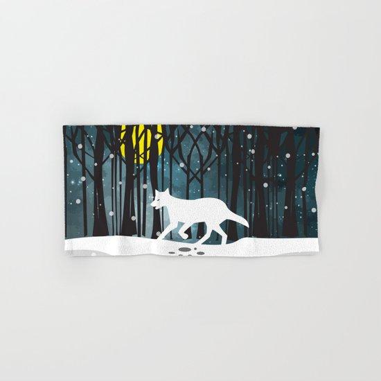 White Wolf at Midnight Hand & Bath Towel