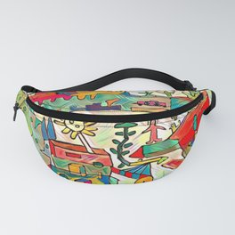 the flower on the wagon Fanny Pack