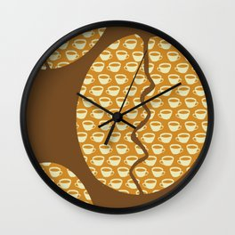 Coffe Bean and Cup Wall Clock