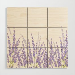 Lavender in the Field Wood Wall Art