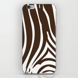 Zebra Stripes | Animal Print | Chocolate Brown and White | iPhone Skin