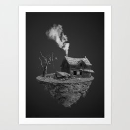 Broken Island Art Print