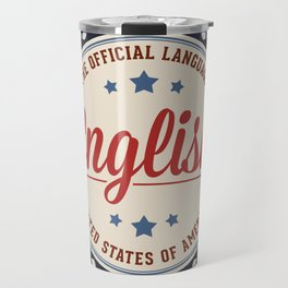 USA Official Language Travel Mug