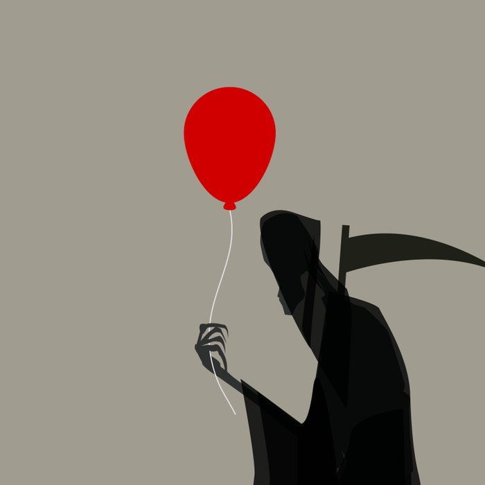 Death With a Balloon Comforters