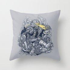 Zombie Exterminator Throw Pillow