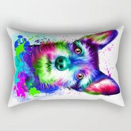 Terrier digital art Rectangular Pillow