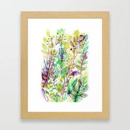 Leaves texture 02 Framed Art Print