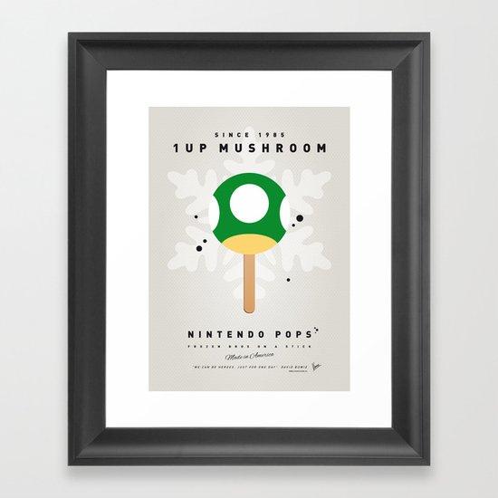 My NINTENDO ICE POP - 1 up Mushroom Framed Art Print