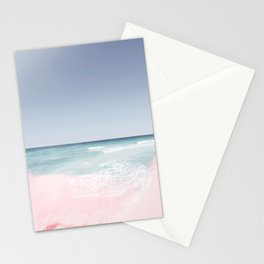 Pastel ocean waves Stationery Cards