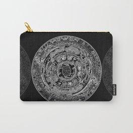 An Island Mandala - PEI, Canada - Original Colors - Black on White Carry-All Pouch