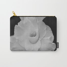 Black and White Gladiolus Carry-All Pouch