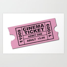 Cinema Ticket Art Print
