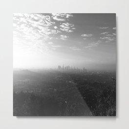 Los Angeles. L.A. Skyline. Black and White. Jodilynpaintings. Sunrise. Sunset. Cityscape. California Metal Print