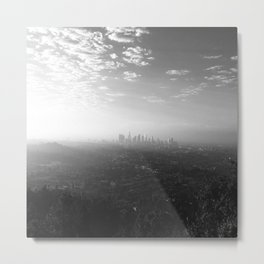 Los Angeles. L.A. Skyline. Black and White. Jodilynpaintings. Sunrise. Sunset. Cityscape. California Metal Print